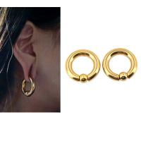 Best BODY PUNK Piercing Earring Ring Ear Stretcher Expander Weights BCR Gold Captive Ball Closure Nose Septum Ring 2.5mm 4mm wholesale