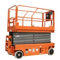 Best 14M Small Electric Scissor Lift With Motorized Device Loading Capacity At 450Kg wholesale