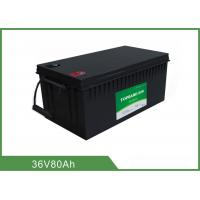 Best Customized 36V 80AH Floor Scrubber Battery Black Color High Consistency wholesale