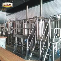 Steam Heated Brewhouse , 15 BBL Craft Brewing Equipment For Brewing Institute