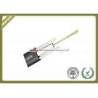 Loose Tube Type FTTH Fiber Optic Cable 4 Core With Two FRP And HDPE Jacket