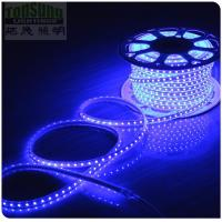 China 100m 230v AC led strip 5050 waterproof cuttable strips lights flexible blue color on sale