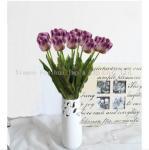 Best Artificial Flowers Purple Tulips wholesale