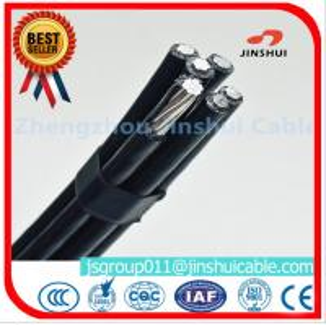 Best 4 * 50mm Overhead Electrical Cable , Quaduplex Pvc Sheathed Cable For Power Line wholesale