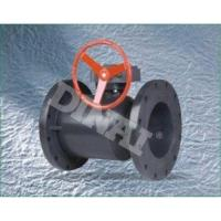 China Plastic 2 Way Flange Ball UPVC / PVC Diaphragm Valve Worm-gear Operation BS on sale