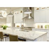China Unique Pattern White Kitchen Granite Worktops Corrosion Resistance For House on sale