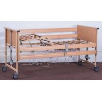 China Movable Wooden Frame Electric Nursing Bed Home Care Bed Linear Actuator Patient Care Bed on sale