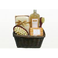 Best Natural Chocolate Fragrance Bubble Bath Gift Set in Basket with Shower Gel 350ml wholesale