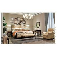 Best Leisure American style Bedroom furniture set of Leather Headboard bed with Solid wood dresser tables wholesale