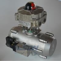 China Stainless Steel Spring Return Valve Actuator, Air Operated Actuator 2~8 Bar Pressure on sale