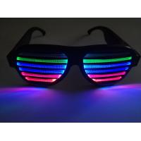 Best New Style Voice-Activated LED glasses Sound activated shutter led flashing glasses with USB charger led sunglasses wholesale