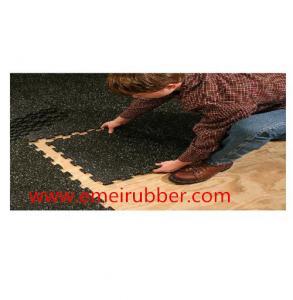 China Outdoor gym interlocking rubber floor tile on sale