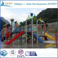 Best Open Slide Waterpark Equipment Fiber Glass Steel Pipe With Multi-Level Platforms wholesale