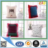China Polyester Fabric Washable Car / Sofa Seat Cushion Covers With Filling for Home Decor on sale