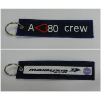 A380 Crew Malaysia Airlines Custom Embroidered Keytag