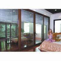 Best Luxury interior aluminum doors with electric blinds, clear glazing tempered glass wholesale