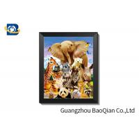 Best Customized Christmas 3D Lenticular Pictures / Flip Effect Printed 3D Animals Photos wholesale