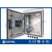 DC 48V Cooling Fans Outdoor Telecom Cabinet With Anti Theft Three Point Lock