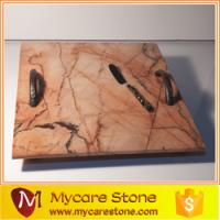 China mycare stone restaurant pink polished marble serving tray on sale