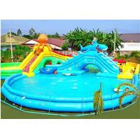 China Commercial Octopus Inflatable Water Parks For Kids / Blow Up Pool With Slide on sale