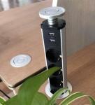 Best European standard USB desktop office pop up socket kitchen socket, hidden desktop socket wholesale