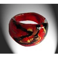 Best Stained Charm Handmade Art Glass Rings For Anniversary Gift in Eruope wholesale
