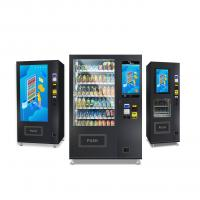 China Small Snack Foods Mini Cashless Vending Machine 125-250 Capacity with touchscreen on sale