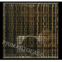 China Decoration Tinted Fabric Laminated Glass Thickness 10mm - 14mm 3600x2400mm on sale