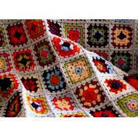 Best Softer Crochet Floral Baby Blanket Square Dobby Style Handmade Blankets For Babies wholesale