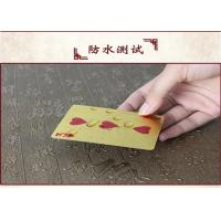 Best CE Personalized Poker Cards , Custom Embossed 24k 999.9 Gold Foil Plated Plastic Playing Cards wholesale