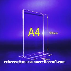 Best PMMA Bảng Tent Transparent Acrylic menu Chủ A4 chân dung hai mặt wholesale