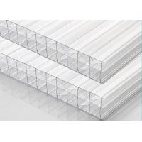 China Multiwall Clear Polycarbonate Sheet X Structure 25% - 92% Light Transmission on sale