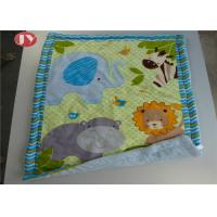 Best Patterns Animals Personalized Baby Blankets Ashable Velour Baby Quilt Reversible Sherpa Backing wholesale
