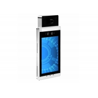 Best Android OS Body Temperature Kiosk 15W Face Detection Access Control System wholesale