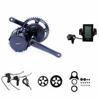 Best Portable Electric Bike Crank Motor Kit , Electric Mid Drive Bike Kit With LCD Display wholesale