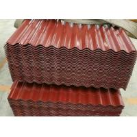 China Weatherability Colour Coated Metal Roofing Sheets , Corrugated Metal Roof Panels on sale
