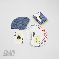 Best SGS 100% Advertising Plastic Playing Cards Glossy or matte varnish Finishing wholesale