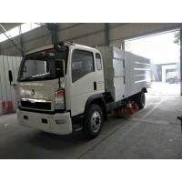 High Efficient Street Cleaner Truck , 4x2 Dust Collecting Road Sweeping Machine