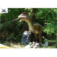 Cheap Water Park / City Center Realistic Dinosaur Statues With Anti - Rust Steel Frame for sale