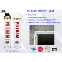 Best Winter Type PU Foam Insulation Spray B3 Fire Resistant for Doors and Windows wholesale