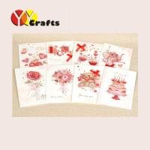 Best Valentine greeting cards handmade love theme folded creative design wholesale