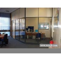 Cheap Modular Office Partitions With Famed Aluminium,Frosted / Tempered Glass , Stud for sale