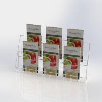 China Metal Counter Top Literature Display Rack Folded Wire Holder For Brochures on sale