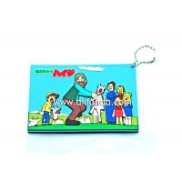 China Blue red pvc cartoon card holder with ball chains for bank card business card on sale