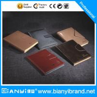 Best Luxury reusable excellent genuine leather loose leaf notebook wholesale