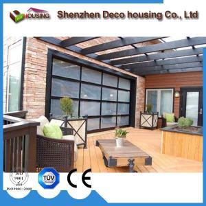 Best Customized automatic sectional folding glass 8x7 garage door panels sale wholesale