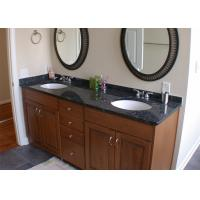 Best Black Color Natural Marble Vanity Countertops With Single Sink wholesale