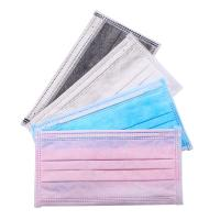 Best White Blue Green Pink Black Colorful Earloop Non-woven 3 Ply Disposable Face Mask wholesale
