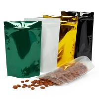 China Plastic Reusable Food Bags , Glossy Stand Up Pouches Various Color Available on sale
