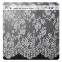 China White Flower Sewing Eyelash Lace Trim For Bridal Wedding Gown on sale
